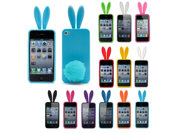 iPhone 4 4S Silicone Bunny Rabbit Phone Case Cover